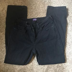 NYDJ black jeans with detailed pockets